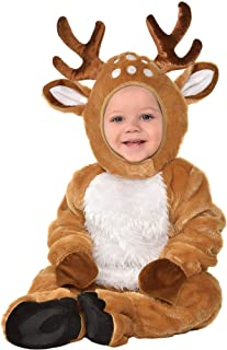 Suit Yourself Cozy Deer Costume for Babies, Size 12-24 Months, Includes a Soft Jumpsuit, Booties, a Tail, and a Hood
