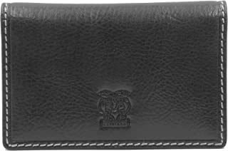 Cappiano Gents Genuine Leather Slim Credit Card Wallet Business Card Holder for Men- Black