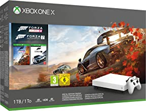 Xbox One X 1TB White Console – Forza Horizon 4 Bundle