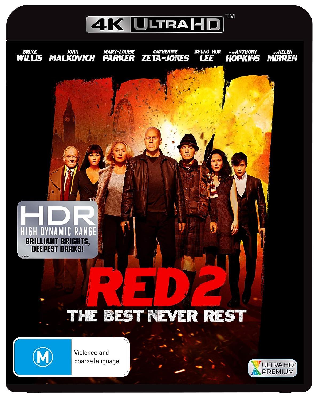 Red 2 4K UHD Bruce Ranking TOP10 Max 73% OFF Willis Mirren Malkovich Helen J. NON-US