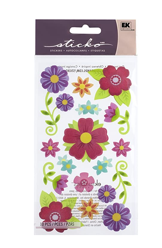 Sticko Layered Vellum Floral Stickers