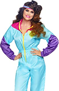Leg Avenue Women's Ski Suit 80s Costume, Multi,