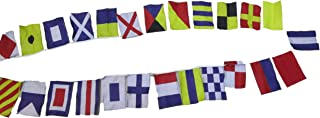 Nautical Sailboat Boating Code Flag - 26 Flags Bunting - 11 Feet - 100% Cotton – Nautical/Boat/Beach Party (5183)