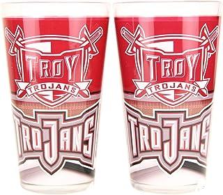 "NCAA""Field"" 16 oz Pint Glass Set (Troy Trojans)"