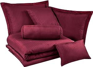 Chezmoi Collection Lex comforter bedding set, Queen, Burgundy