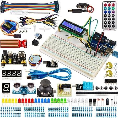 Miuzei Arduino用 R3用 初心者 電子工作 スターターキット mega2560とR3 nanoと互換性のある(日本語マニュアル付き)