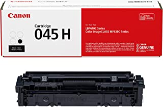 Canon Genuine Toner, Cartridge 045 Black, High Capacity (1246C001), 1 Pack, for Canon Color imageCLASS MF634Cdw, MF632Cdw, LBP612Cdw Laser Printers