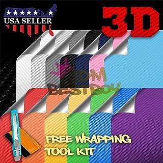 Free Tool Kit Chameleon Purple Blue 3D Carbon Fiber Textured Matte Car Vinyl Wrap Sticker Decal Film Sheet Color Shifting Change - 12