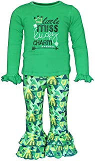 Girls 2 Piece Little Miss Lucky St Patrick's Day Outfit