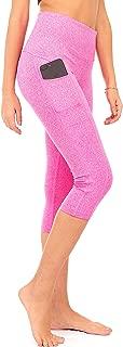High Waist Workout Capri Leggings with 3 Pockets for Women. Yoga Athletic Capris for Women (S2)