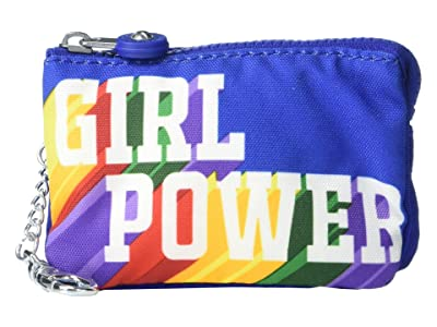 Kipling Mini Creativity Pouch Keychain (Girl Power Rainbow) Handbags
