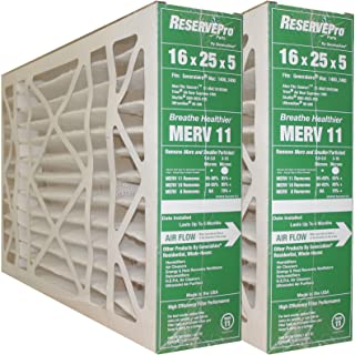 GeneralAire # 4541 MERV 11 for # GF 4511 ReservePro 16x25x5 furnace filter, Actual Size:15 5/8