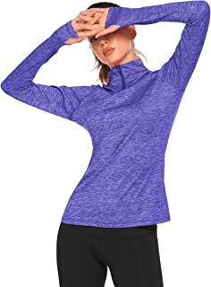 ELESOL Women's Long Sleeve Workout Tee Running Gym Sports T-Shirt Fast Dry, S-XXL