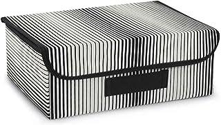 Ocean Home Panier de rangement en intissé avec poignée et beau design cube organiseur, pliable et pliable avec couvercle d...