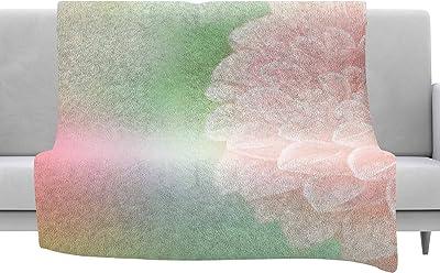 Kess InHouse Victoria Krupp Tropical Leaves Green Nature Throw 60 x 40 Fleece Blankets