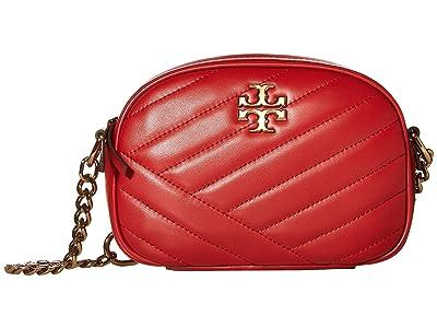 Tory Burch Kira Chevron Small Camera Bag (Red Apple) Handbags