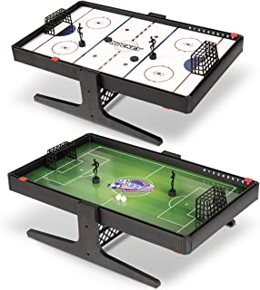 Sport Squad Flux Magnetic Reversible Soccer & Hockey Tabletop Multi Sport Game Set - Portable Mini Desktop Set - Great for Kids and Adults - Magnet Miniature Table Game