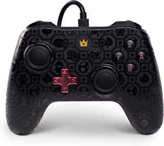 Nintendo Switch Wired Controller/Gamepad|Princess Peach Shadow/Super Mario Bros|officially licensed|From PowerA (Nintendo Switch)