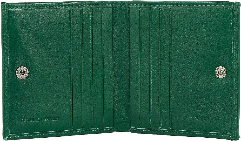 Nuvola pelle, portafoglio, portamonet per uomo, in vera pelle, verde 8031847166330