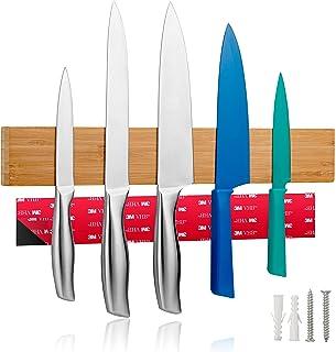 LARHN Porte Couteaux Aimanté avec Ruban Adhésif Inclus en Option - 40cm - Aimant Couteau Mural pour Les Couteaux, Les Uste...