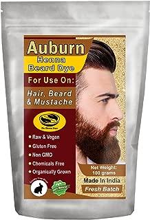 1 Pack of Auburn Henna Beard Dye for Men - 100% Natural & Chemical Free Dye for Hair, Beard & Mustache - The Henna Guys