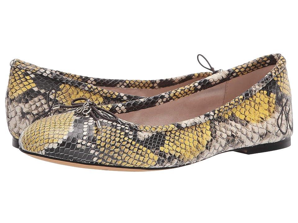 Sam Edelman Felicia (Tuscan Yellow Multi Exotic Snake Print Leather) Women