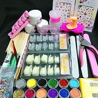 Nail Kit Set Professional Acrylic with Everything, 12 Glitter Acrylic Powder Kit Nail Art Tips Nail Art Decoration, DIY Na...