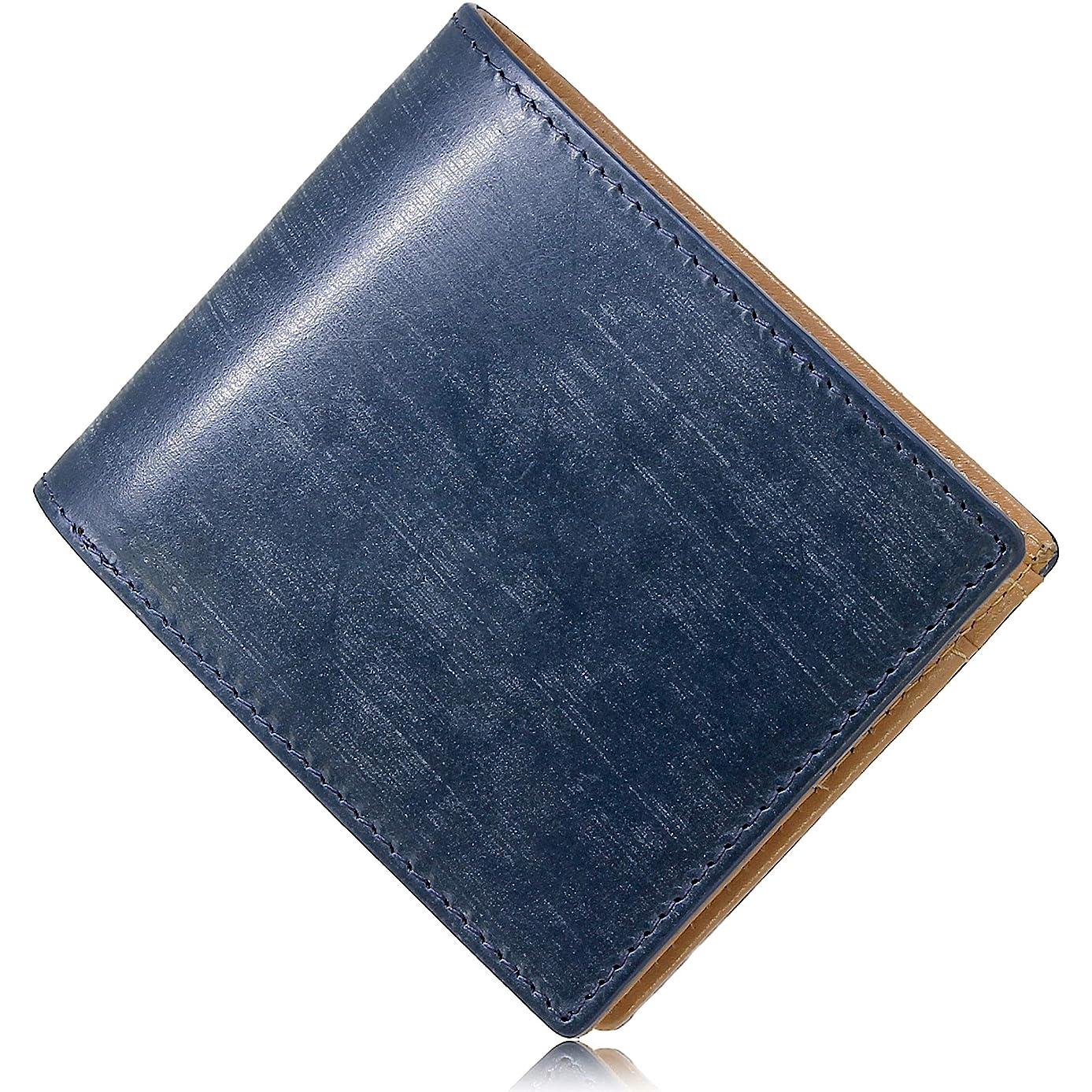 晴れレイプ解放財布 1840年創業の英国トーマス社 ブライドルレザー 二つ折り財布 メンズ 日本製 WL14