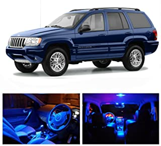 LED Blue Lights Interior Package Kit For Jeep Grand Cherokee 1999-2004 (13 pcs)