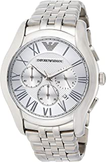 Emporio Armani Men's Ar1702 Dress Silver Watch, Analog Display