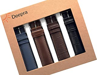 Deepra - Business Edition - Classy Leather Bands for Apple Watch 42mm and 44mm