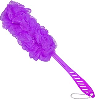 """DecorRack Bath Sponge with Handle, Shower Loofah Brush, Back Cleaning Scrubber, 8"""" Long Curved Handle, Exfoliate, Rejuvena..."""