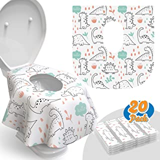 Toilet Seat Covers Disposable - 20 Pack - Waterproof, Ideal for Kids and Adults – Extra Large, Individually...