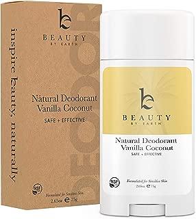 Natural Deodorant Vanilla Coconut - Organic Deodorant for Women, Aluminum Free All Natural Deodorants for Women and Mens Deodorant, Vegan Womens Deodorant Sensitive Skin, Travel Deodorant, 2.65oz Tube