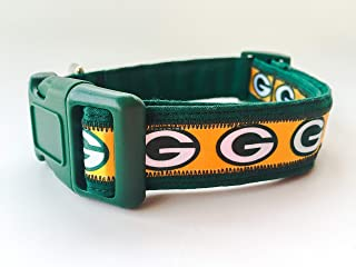 Green Bay Packers NFL Dog Collar with Bandana Option