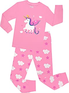 Little Girls Horse Pajamas Set Children Christmas PJs 100% Cotton Sleepwear Size 2 to 8 Years