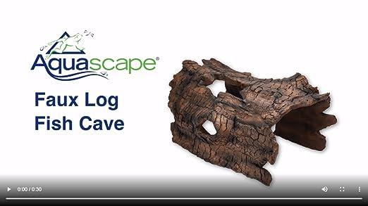 Amazon Com Aquascape 78324 Koi Predator Control Faux Log Fish Cave Brown Garden Outdoor
