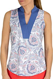 Jofit Womens Dixie Print Sleeveless Golf Top