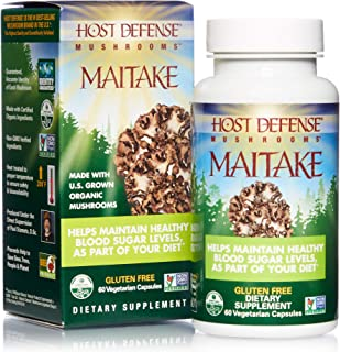 Host Defense, Maitake Capsules, Promotes Normal Blood Sugar Metabolism Already Within The Normal Range, Daily Mushroom Sup...