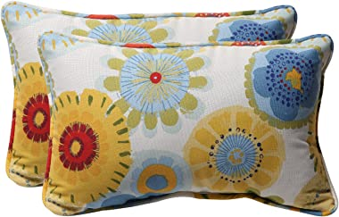 """Pillow Perfect Outdoor/Indoor Crosby Confetti Lumbar Pillows, 11.5"""" x 18.5"""", Multicolored, 2 Pack"""