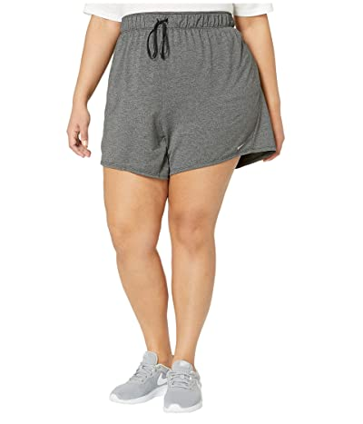 Nike Plus Size Dry Shorts Attack 2.0 TR 5 (Black/Particle Grey/White) Women