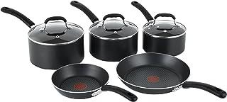 Tefal E857S544 Premium Non-stick Cookware Set with Induction, 5 Pieces - Black