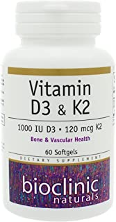 Vitamin K2 and D3 60 Softgels - Pack of 3