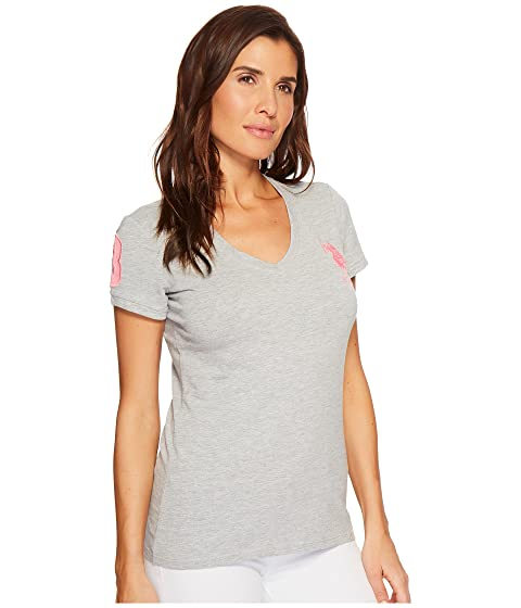 ASSN S Big Sleeve T U Shirt 3 with and V Pony Neck POLO Short 4qxdnSE