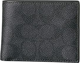 7389a261e5 COACH Compact ID Wallet In Signature Canvas | Zappos.com