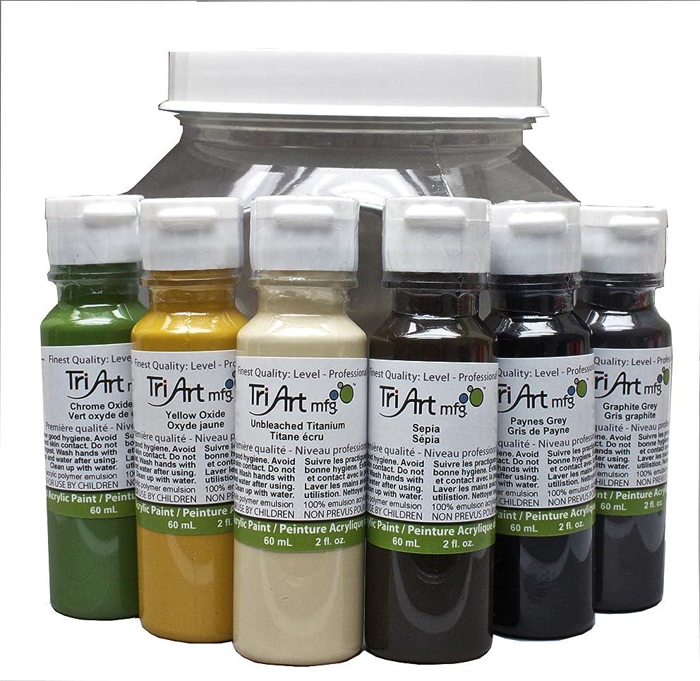 Tri-Art Liquid Acrylic Neutral Palette Set, 6 x 60ml