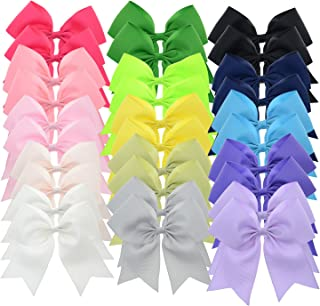 5 Inch Large Grosgrain Ribbon Cheer Bows with Alligator Hair Clips for Teens Juniors Pack of 30 LCLHB