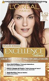 L'Oréal Paris Excellence Intense Coloración, Tono: 5,52 Caoba Sutil