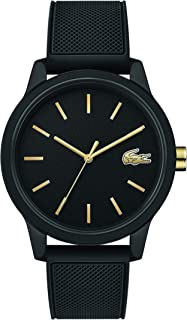 Lacoste Men's TR90 Japanese Quartz Watch with Rubber Strap, Black, 19.5 (Model: 2011010)
