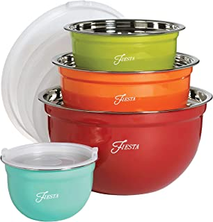 Fiesta 6450S8R 8 Piece Mixing Bowl Set with Lids